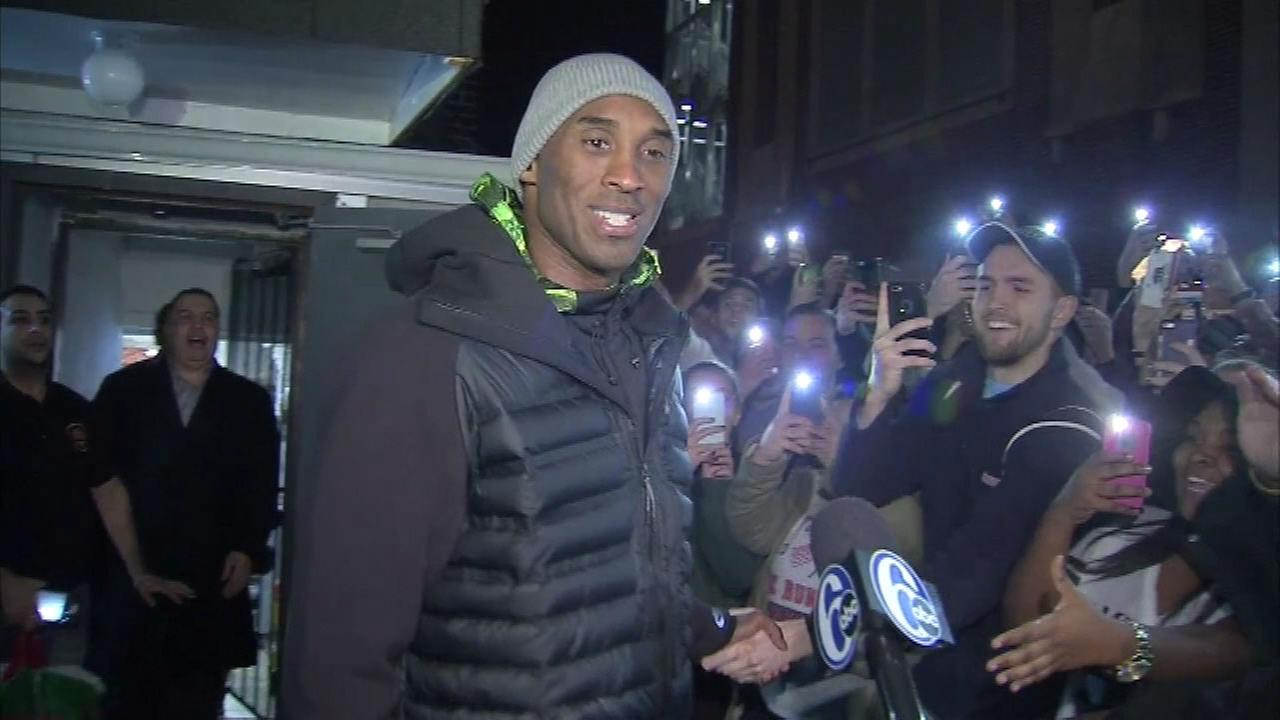 PHOTOS: Kobe stops off at favorite cheesesteak shop