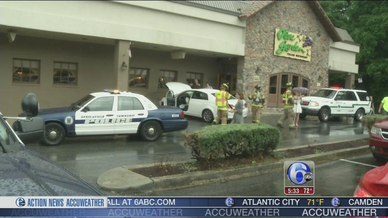 Car Slams Into Olive Garden In Springfield
