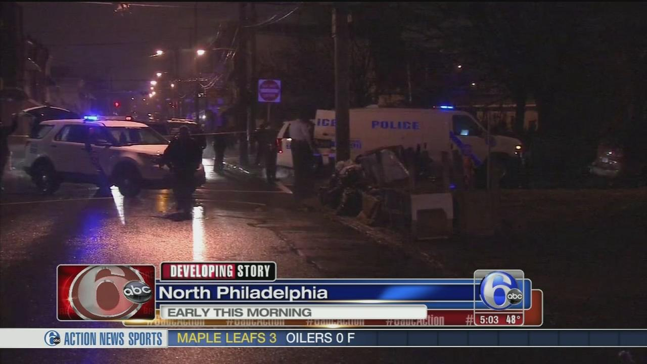 VIDEO: Man shot, several in custody in N. Phila.