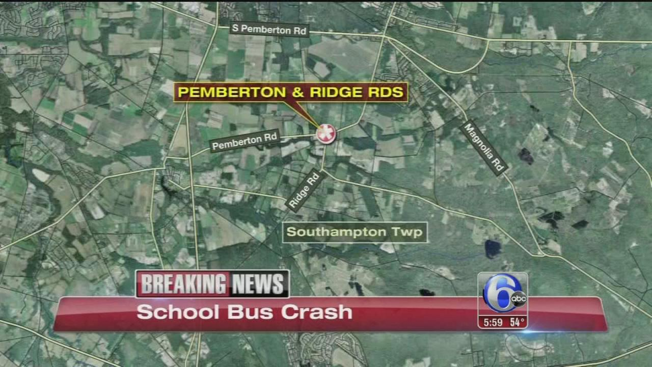 VIDEO: School bus crash in Burlington County