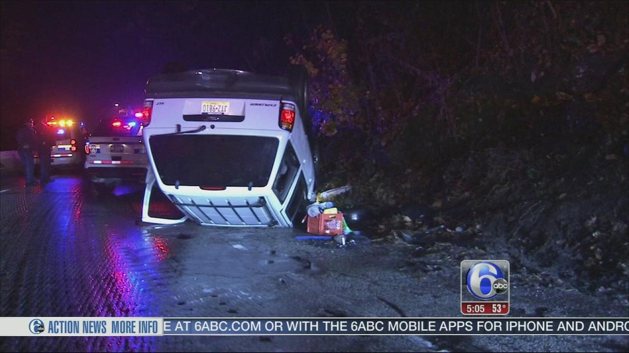 VIDEO: SUV overturns on Lincoln Drive