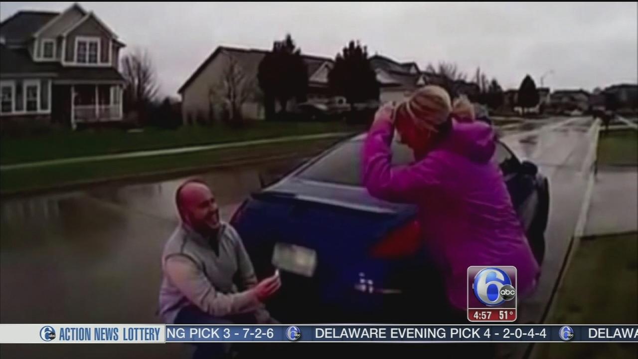 VIDEO: Man fakes arrest to propose to girlfriend
