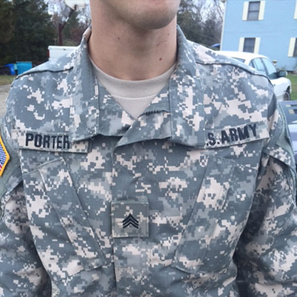 Pictured: Michael Porter, 25, of Galloway Township, is charged with Impersonating Military Personnel / Stolen Valor. <span class=meta></span>