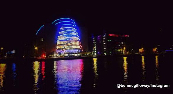 <div class='meta'><div class='origin-logo' data-origin='none'></div><span class='caption-text' data-credit=''>Convention Centre Dublin is lit blue, white and red.</span></div>
