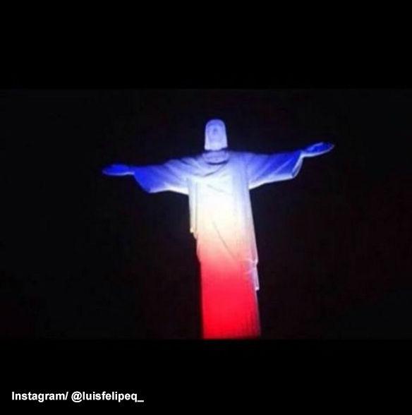 <div class='meta'><div class='origin-logo' data-origin='none'></div><span class='caption-text' data-credit=''>Christ the Redeemer in Rio de Janeiro is lit up to show support to Paris, France.</span></div>