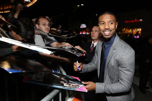 <div class='meta'><div class='origin-logo' data-origin='none'></div><span class='caption-text' data-credit='Eric Charbonneau/Invision/AP'>Michael B. Jordan seen at Los Angeles World Premiere of New Line Cinema?s and Metro-Goldwyn-Mayer Pictures' 'Creed'</span></div>