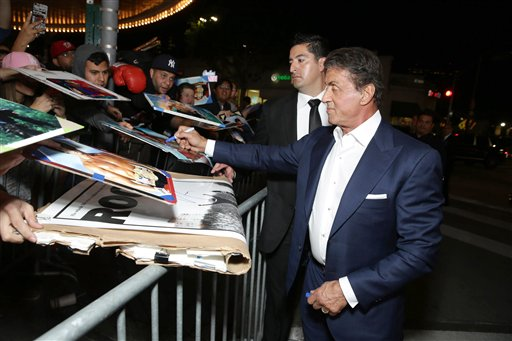 <div class='meta'><div class='origin-logo' data-origin='none'></div><span class='caption-text' data-credit='Eric Charbonneau/Invision/AP'>Producer Sylvester Stallone seen at Los Angeles World Premiere of New Line Cinema?s and Metro-Goldwyn-Mayer Pictures' 'Creed'</span></div>
