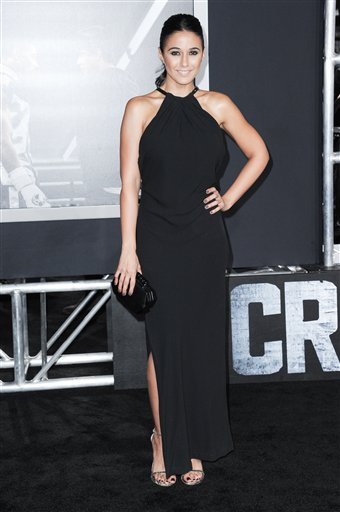 <div class='meta'><div class='origin-logo' data-origin='none'></div><span class='caption-text' data-credit='Richard Shotwell/Invision/AP'>Actress Emmanuelle Chriqui attends the LA Premiere of &#34;Creed&#34; held at the Regency Village Theater on Thursday, Nov. 19, 2015, in Los Angeles.</span></div>