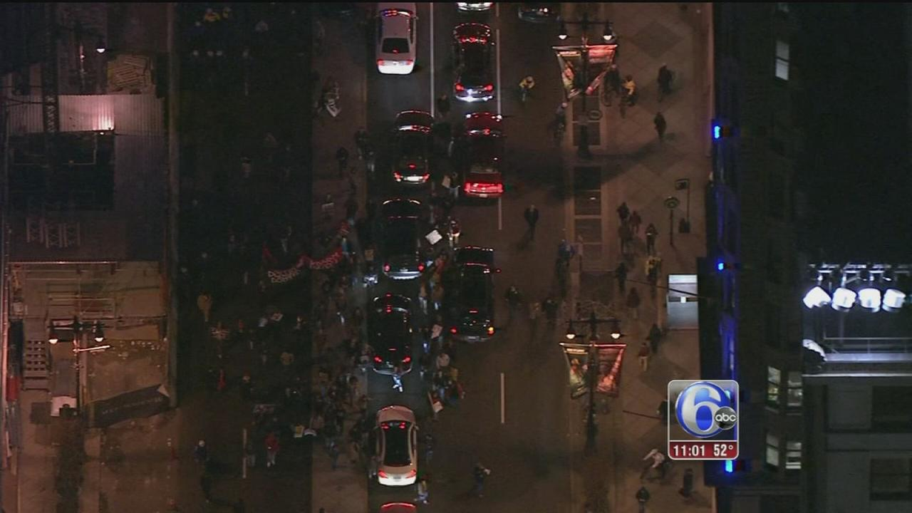 VIDEO: Protesters march through Center City