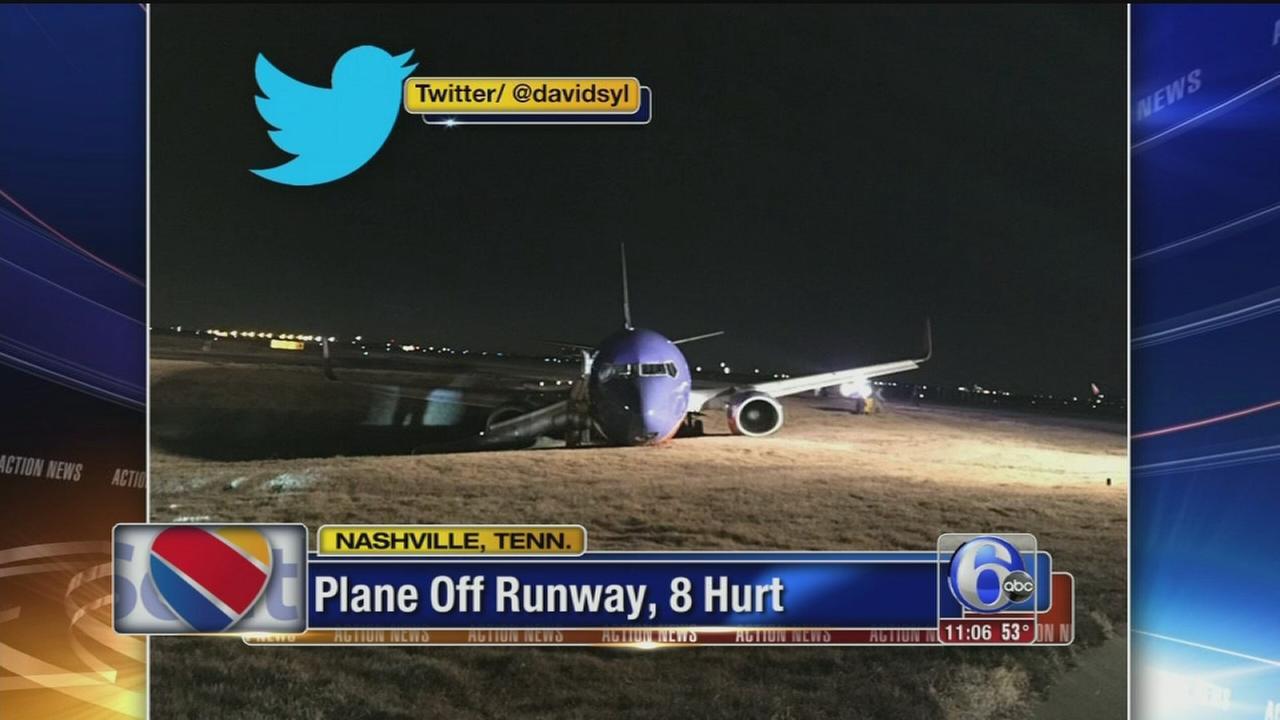VIDEO: Plane off runway, 8 hurt
