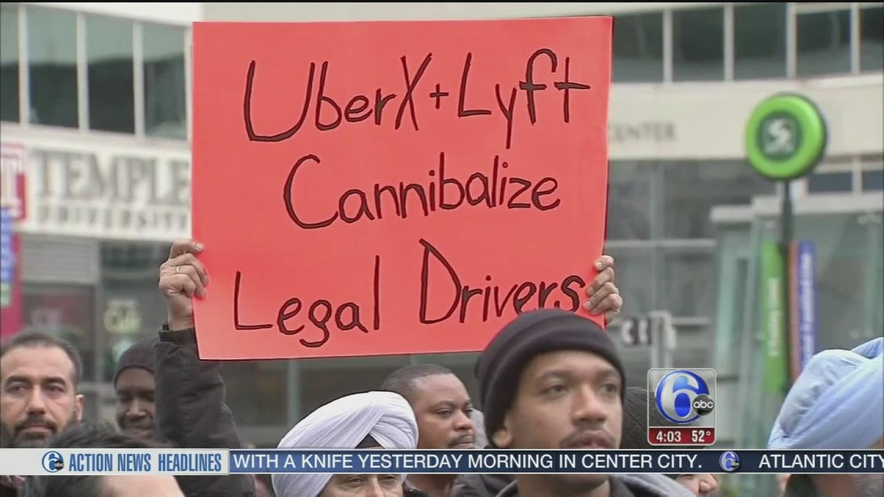 VIDEO: Uber protest shuts down Center City streets