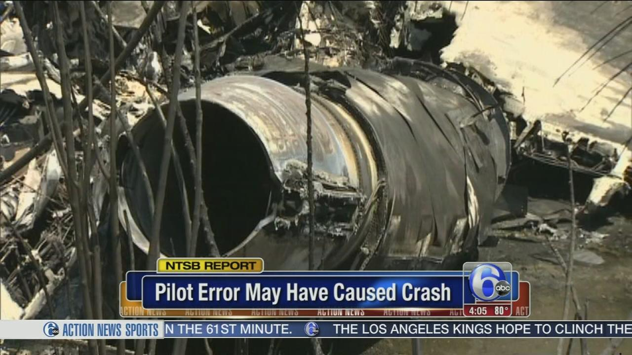 NTSB: Pilot error may have caused crash