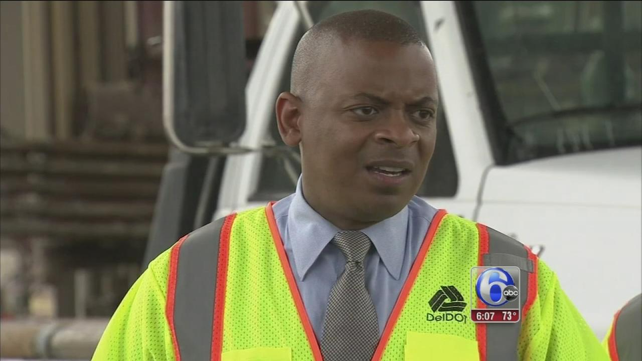 VIDEO: U.S. Transportation Secretary tours I-495 bridge