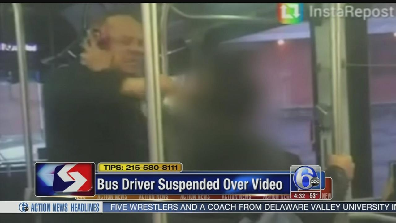 VIDEO: Bus driver suspended over video