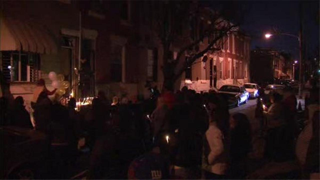 Family and friends gathered on Christmas Eve in remembrance of a woman whose body was discovered inside an abandoned home in North Philadelphia.