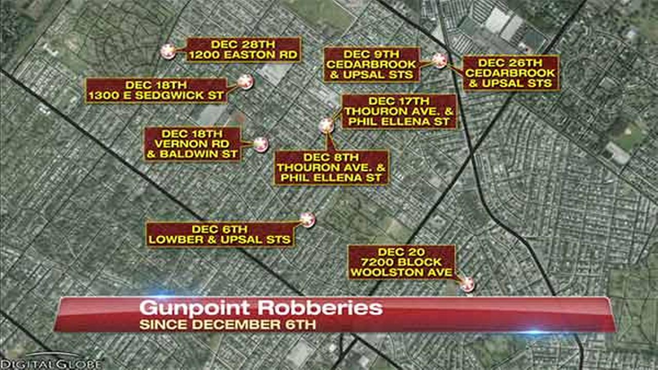 Man sought in 9 gunpoint robberies at bus stops in West Oak Lane
