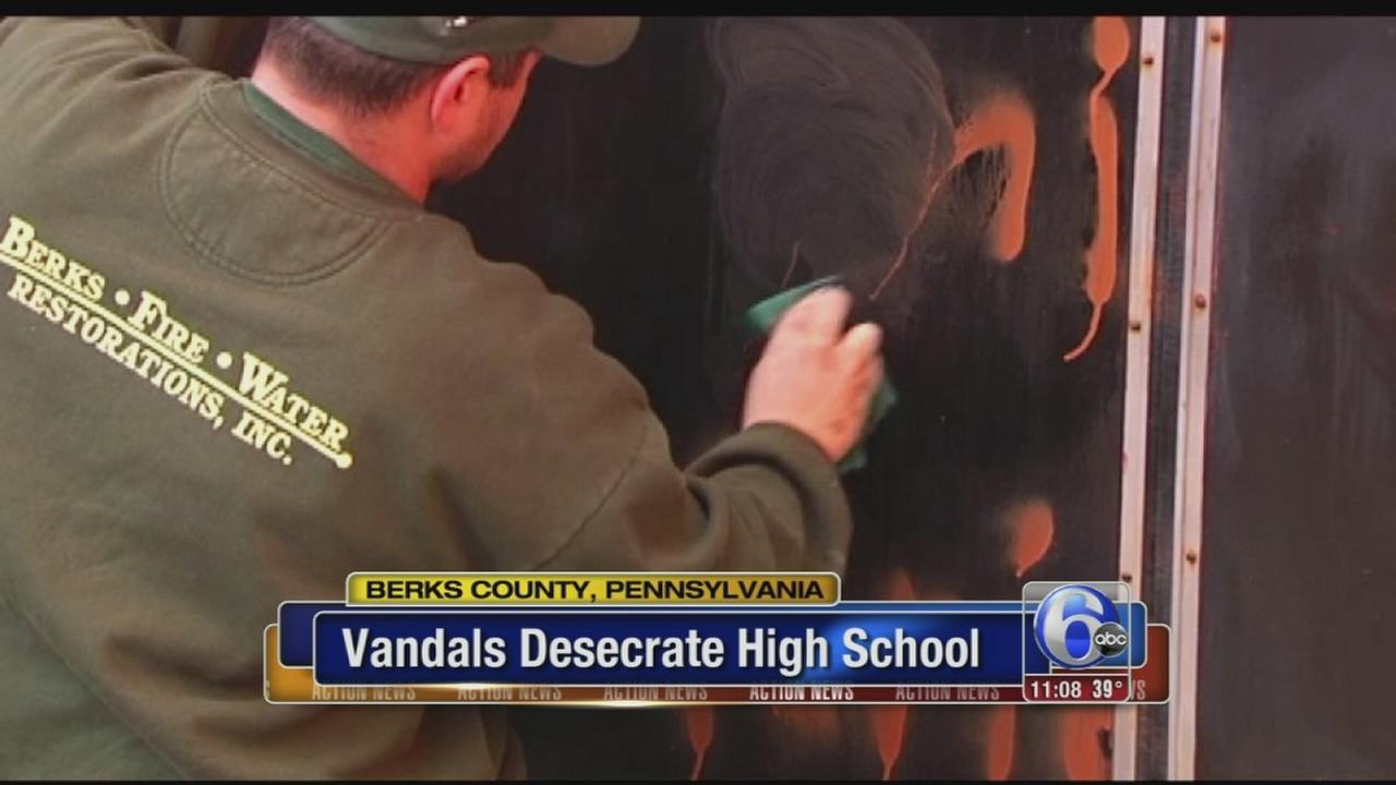 VIDEO: High school vandalism