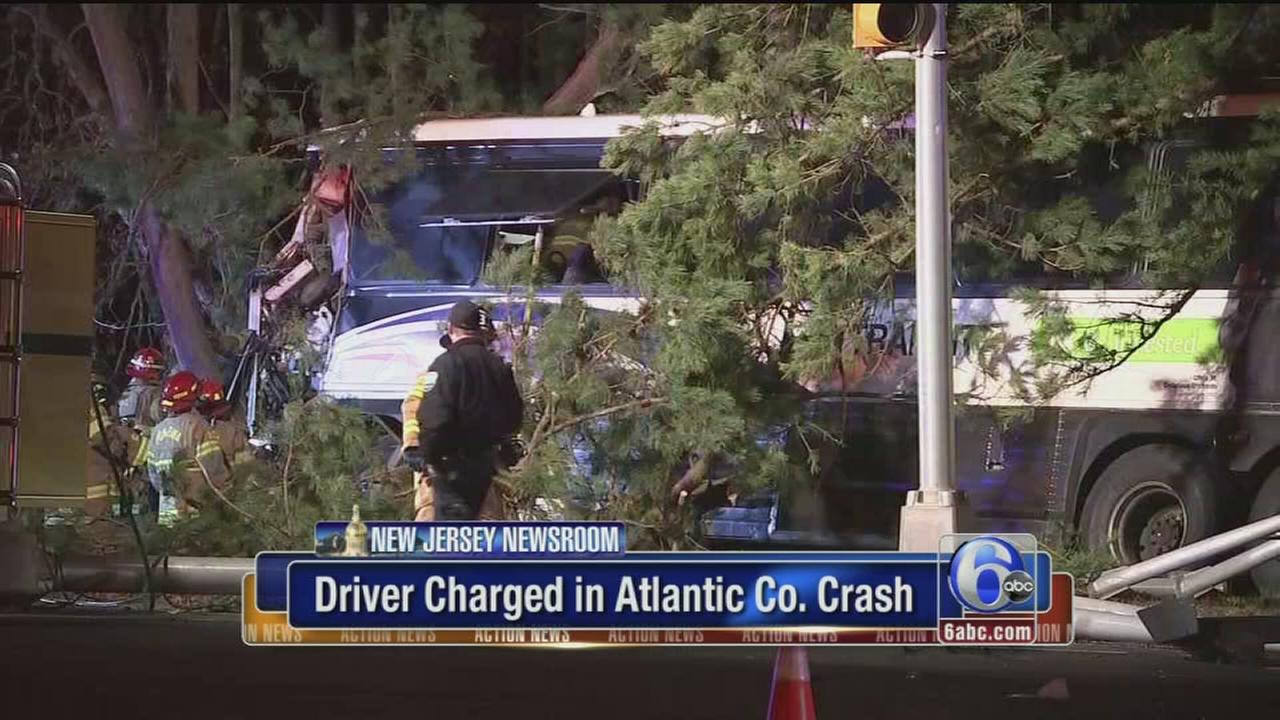 VIDEO: NJT bus driver charged after crash