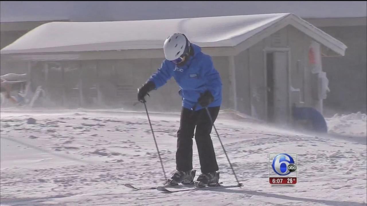 VIDEO: Ski resorts enjoying the cold temps