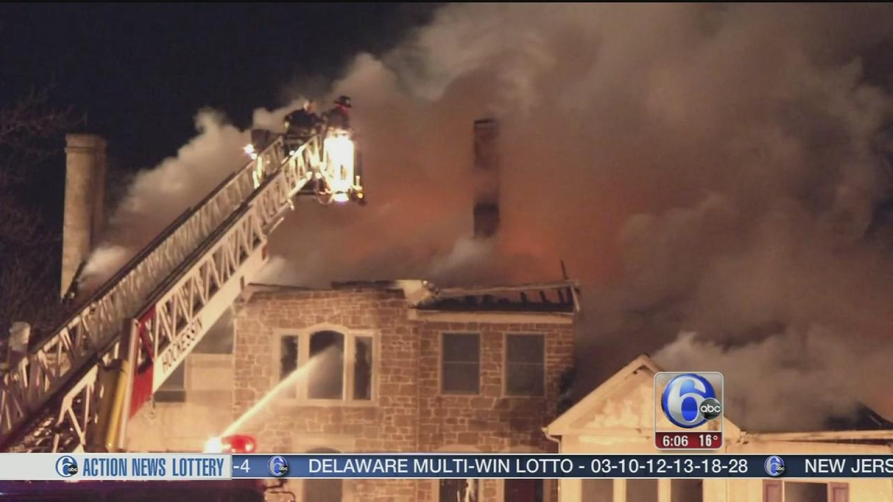 VIDEO: Crews battle house fire in Kennett Square