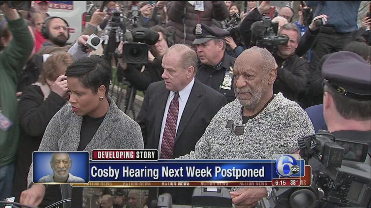VIDEO: Cosby hearing next week postponed