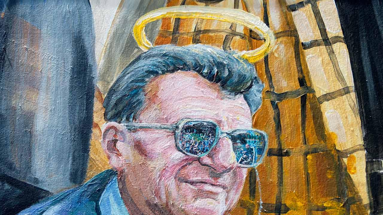 Pictured: Joe Paternos image on a mural in State College, Pa. as it appeared Thursday, July 12, 2012.