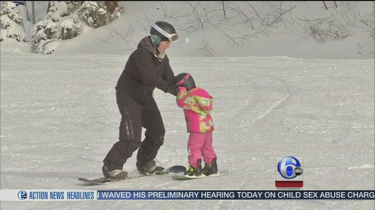 VIDEO: Skiers enjoying recent cold snap