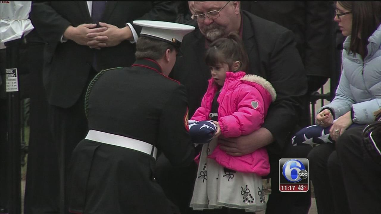 VIDEO: Flag presented to daughter of Air Force Staff Sergeant Peter Taub