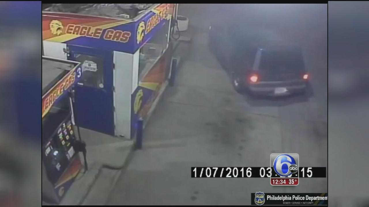 VIDE: Suspect steals ATM from gas station in Roxborough