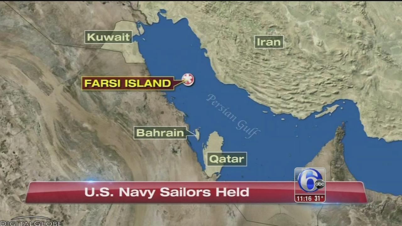 VIDEO: US Navy sailors held in Iran