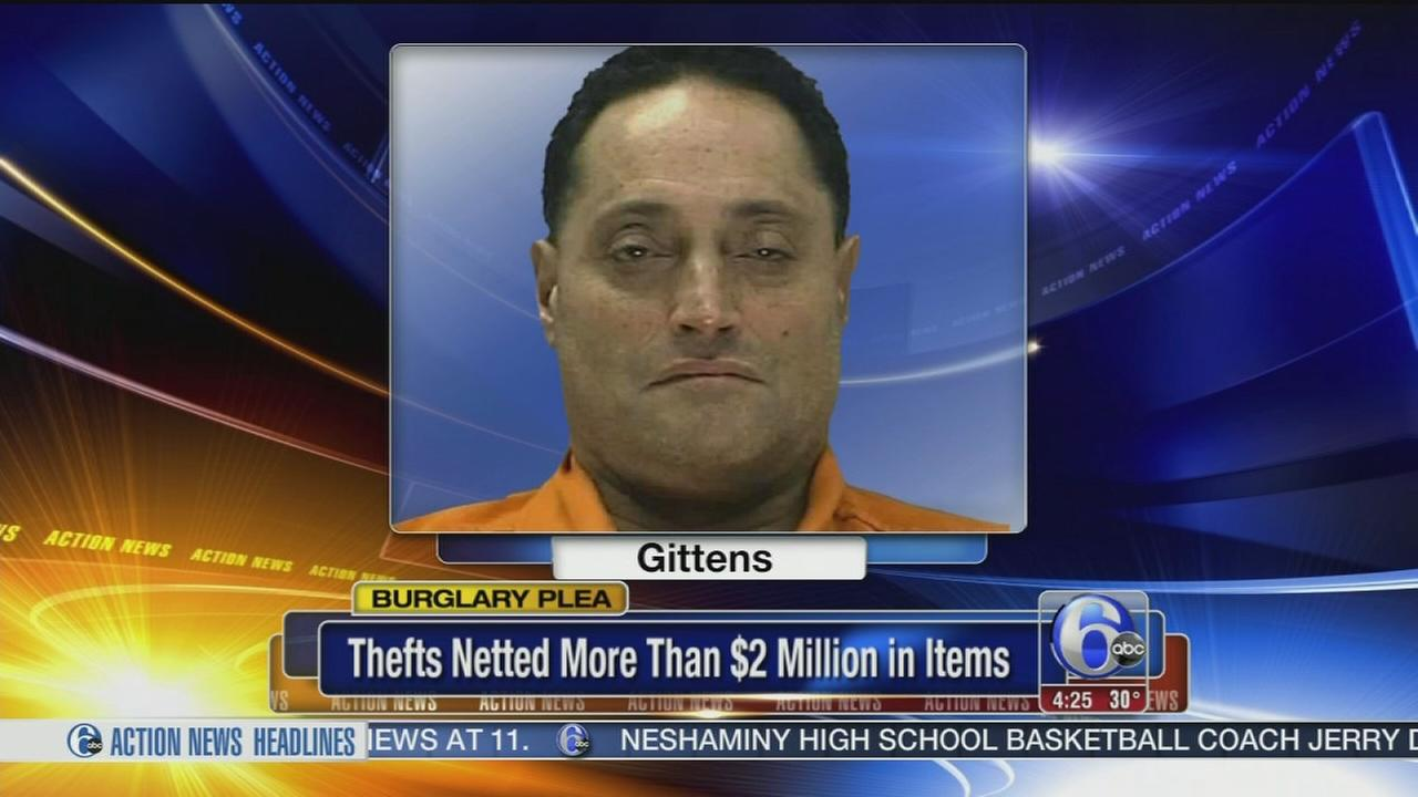 VIDEO: Burlco man arrested for $2M in bruglaries