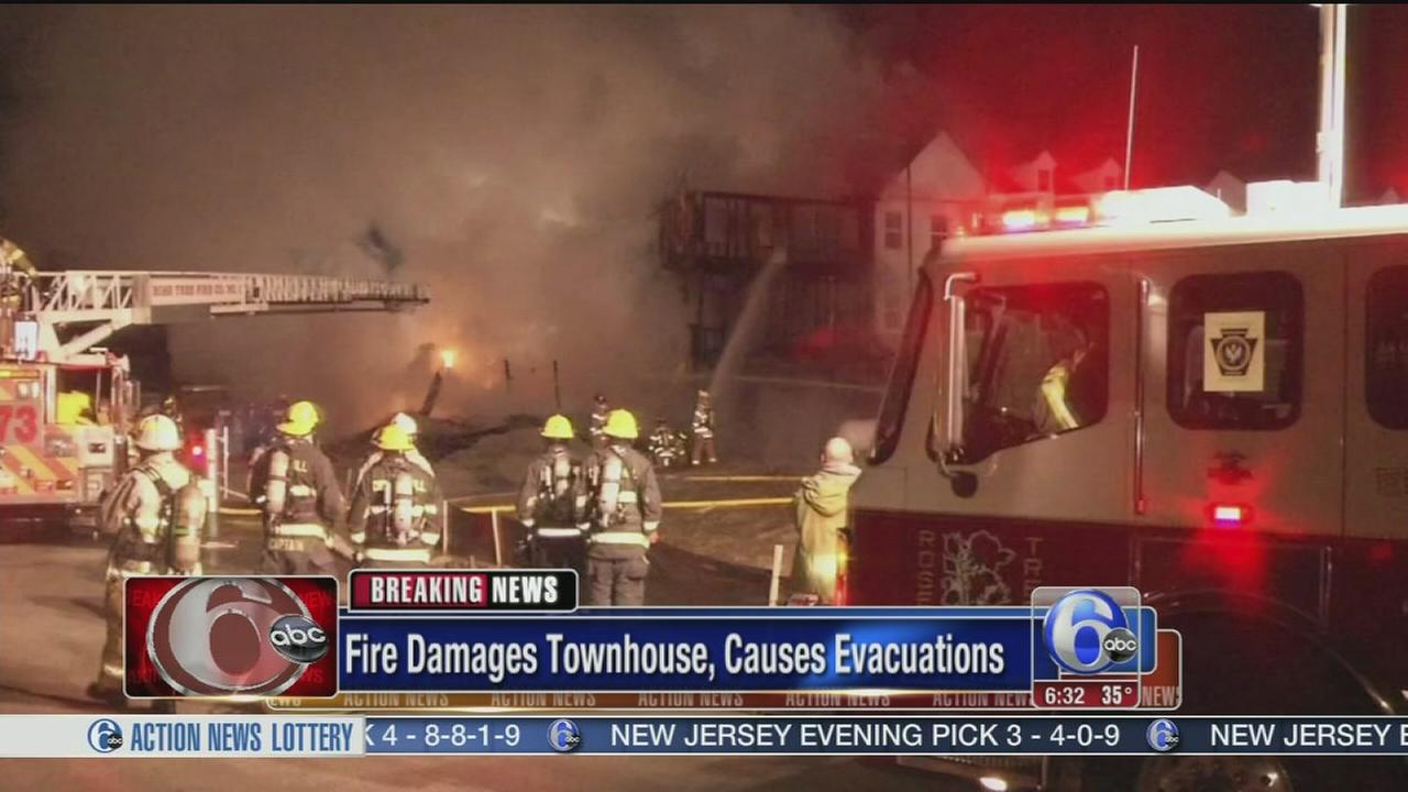 VIDEO: Fire damages townhomes in Delco