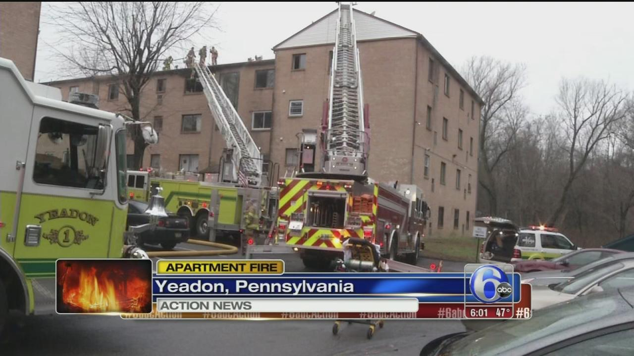 VIDEO: Yeadon apartment fire