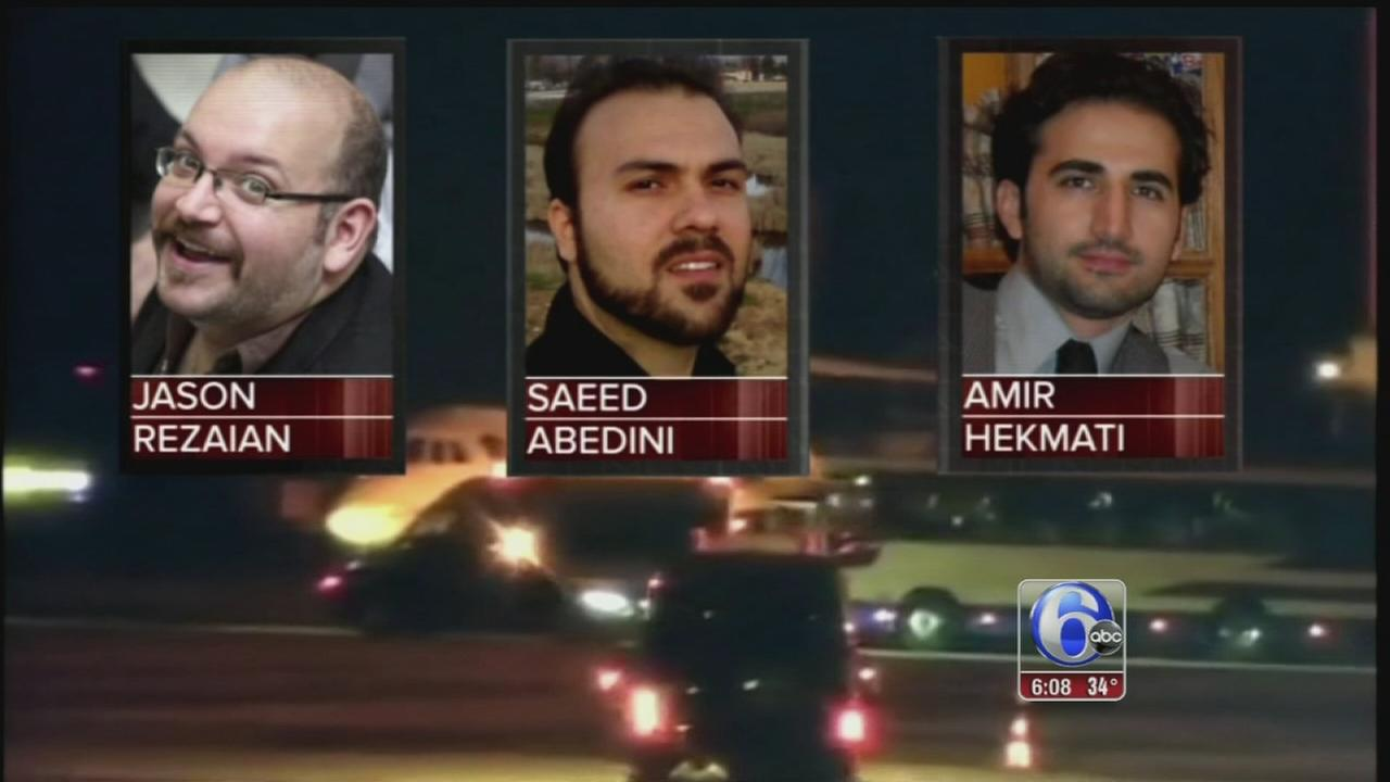 VIDEO: Americans freed by Iran