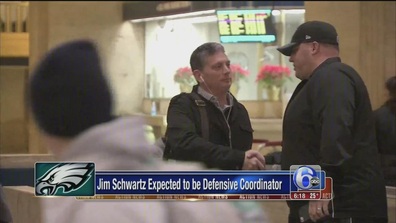 VIDEO: Jim Schwartz arrvies in Philadelphia