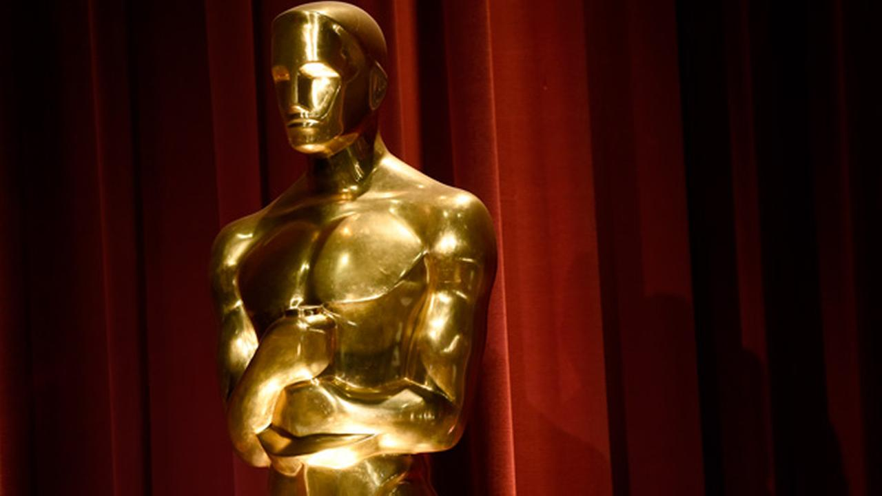 An Oscar statue is seen on stage at the 88th Academy Awards nomination ceremony on Thursday, Jan. 14, 2016, in Beverly Hills, Calif.