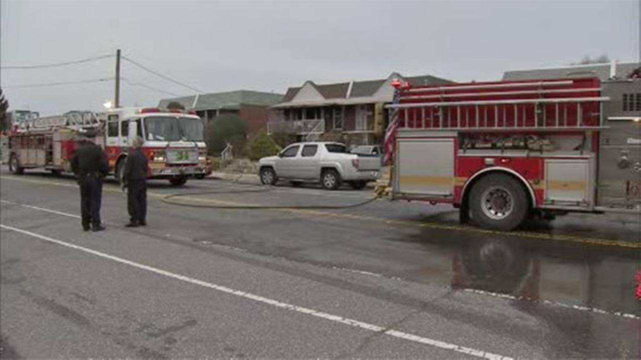 Three people are displaced after a house fire that left a fireman injured in the citys Somerton section.
