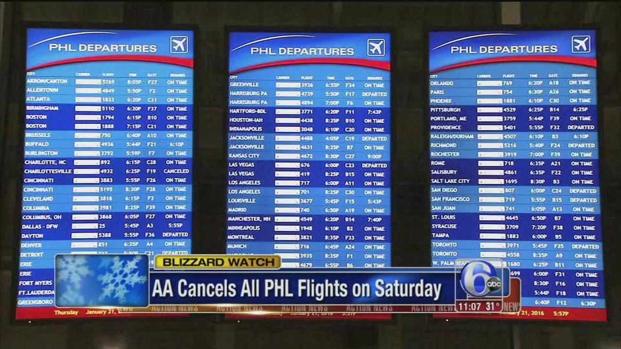 VIDEO: AA cancels Saturday flights