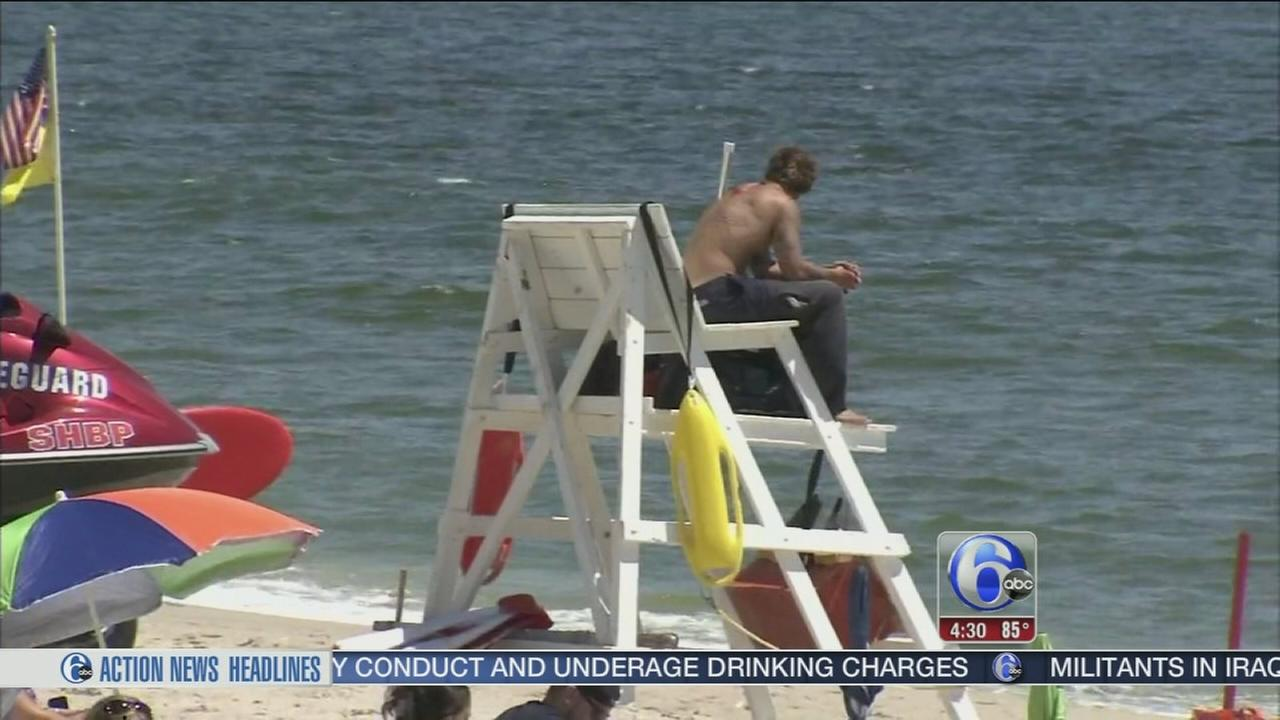 VIDEO: Man saved from surf, punches lifeguards