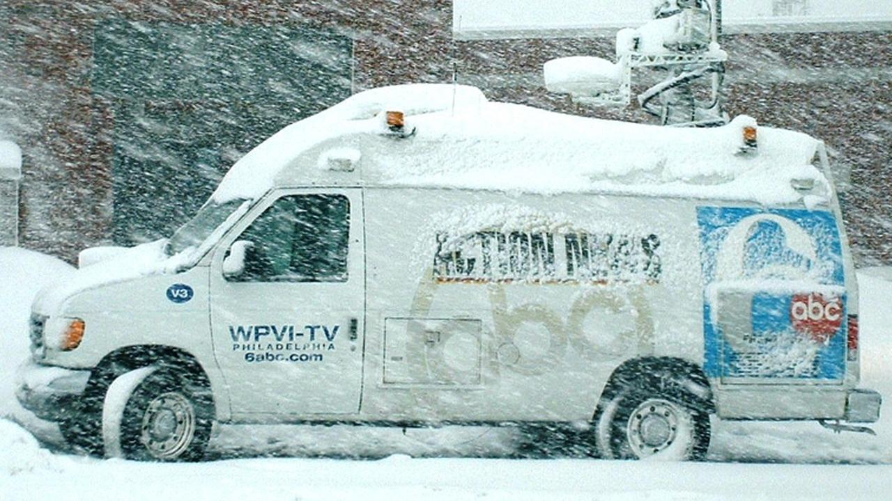 Action News Van in Blizzard