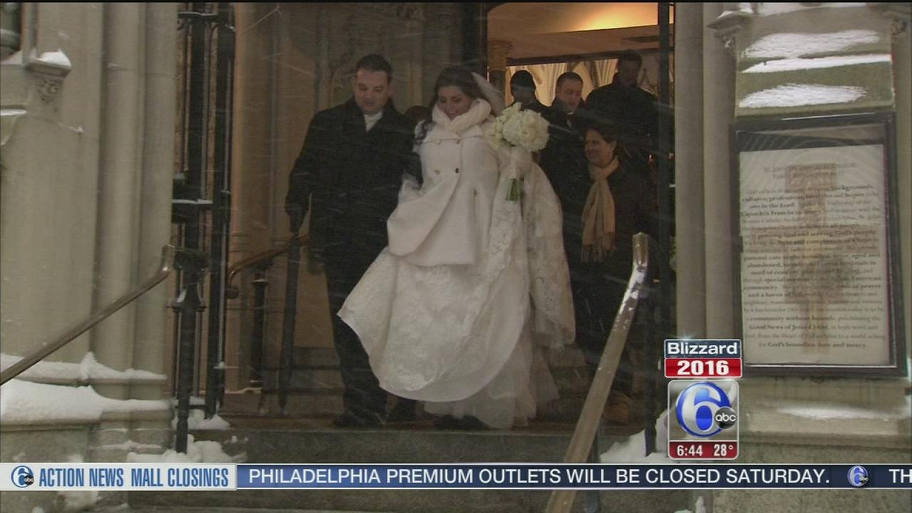VIDEO: Couple weds during blizzard