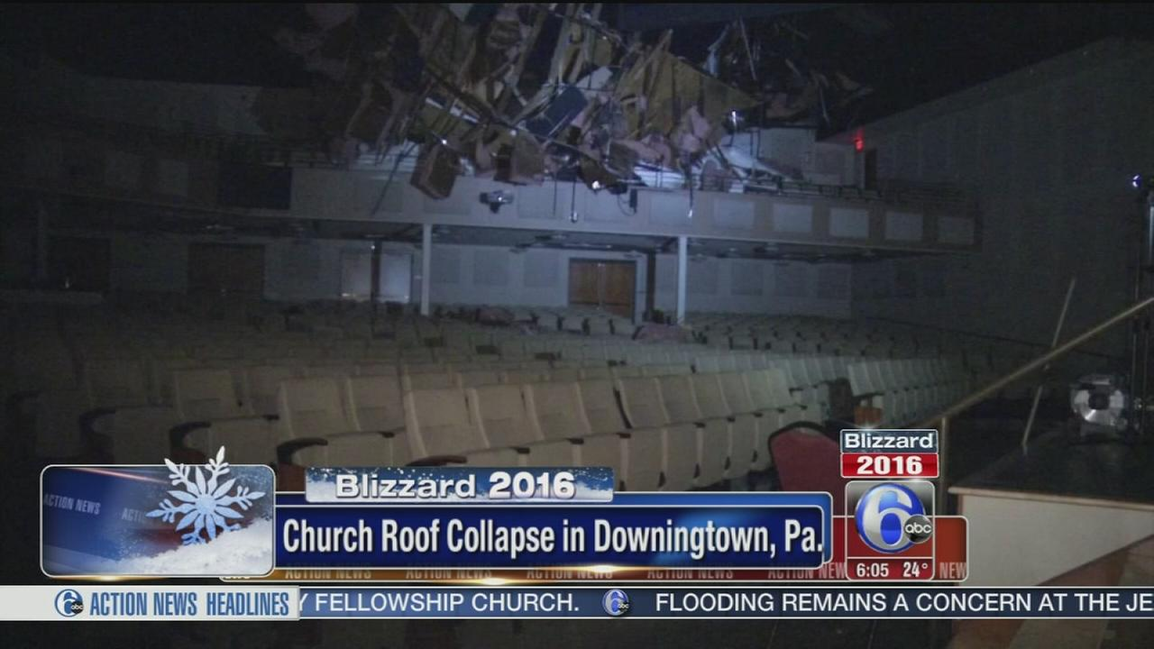 VIDEO: Church roof collapse in Downingtown
