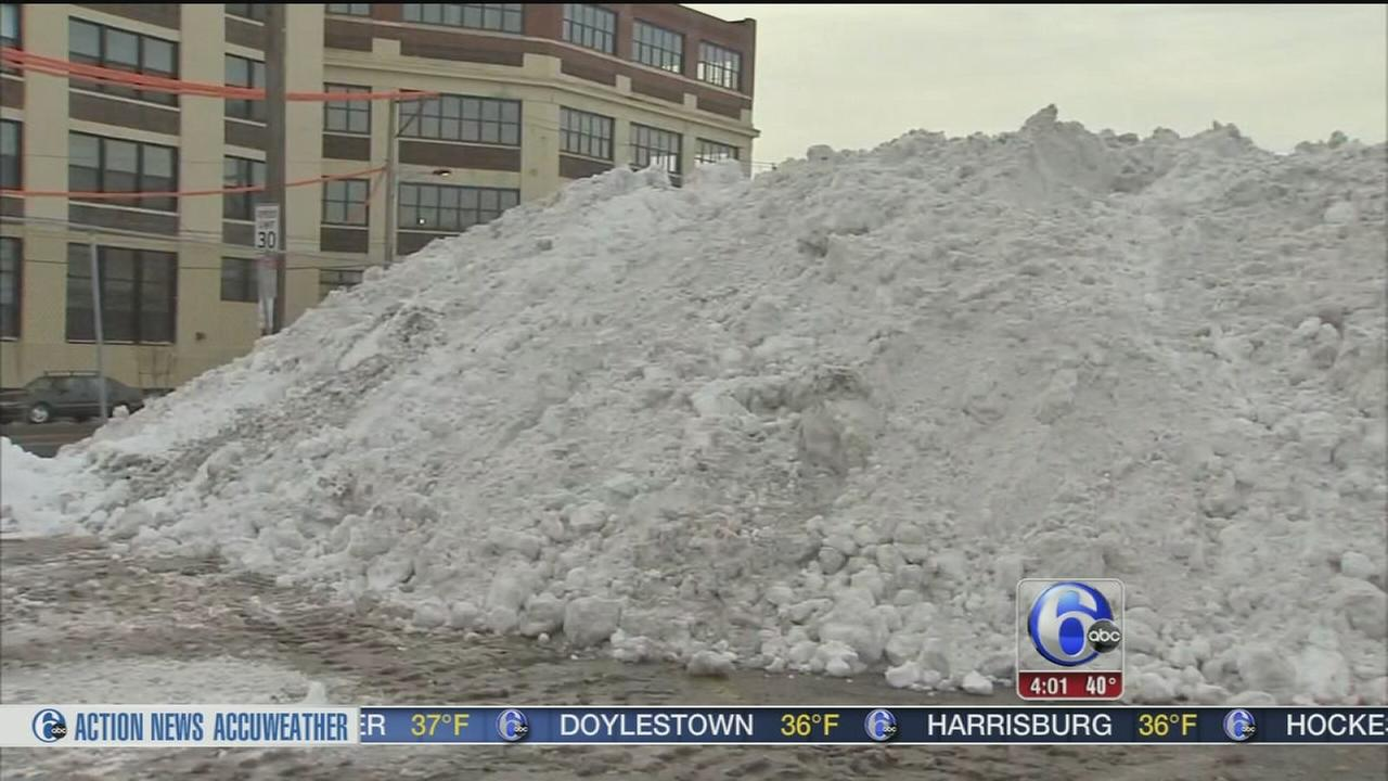 VIDEO: Philly residents ask: Where to put all this snow?