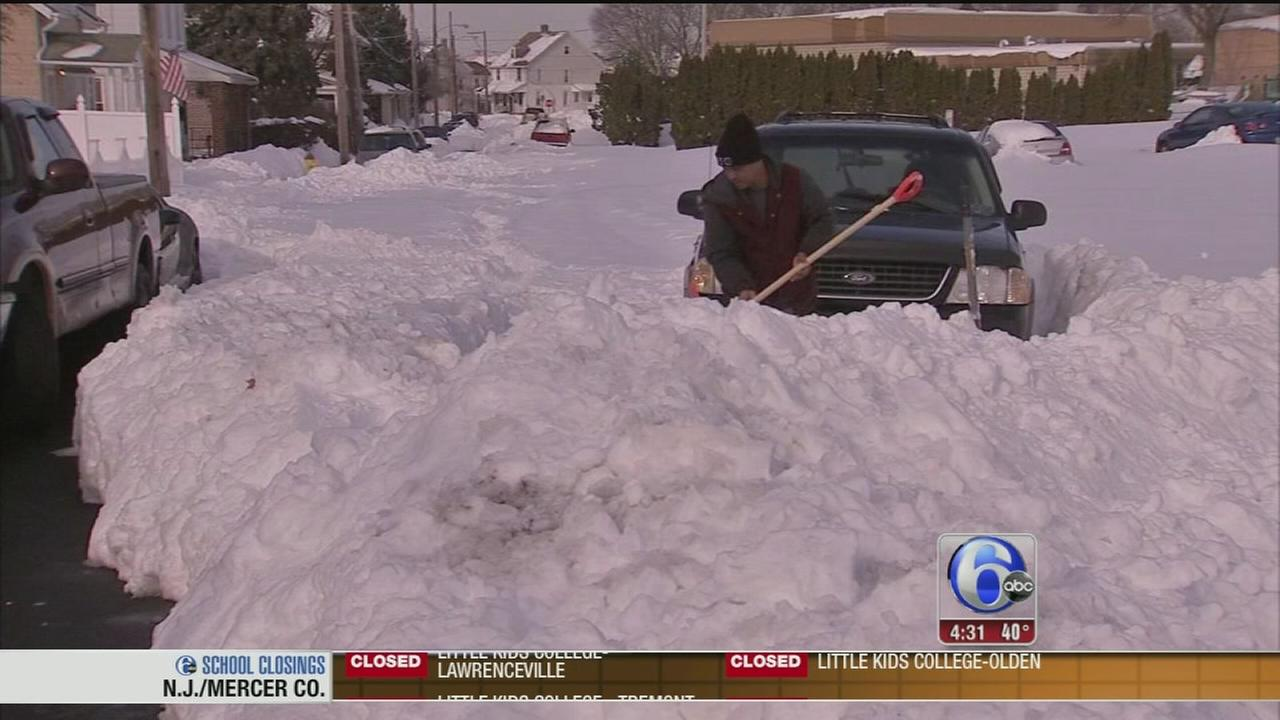 VIDEO: Allentown digging out after record snowfall