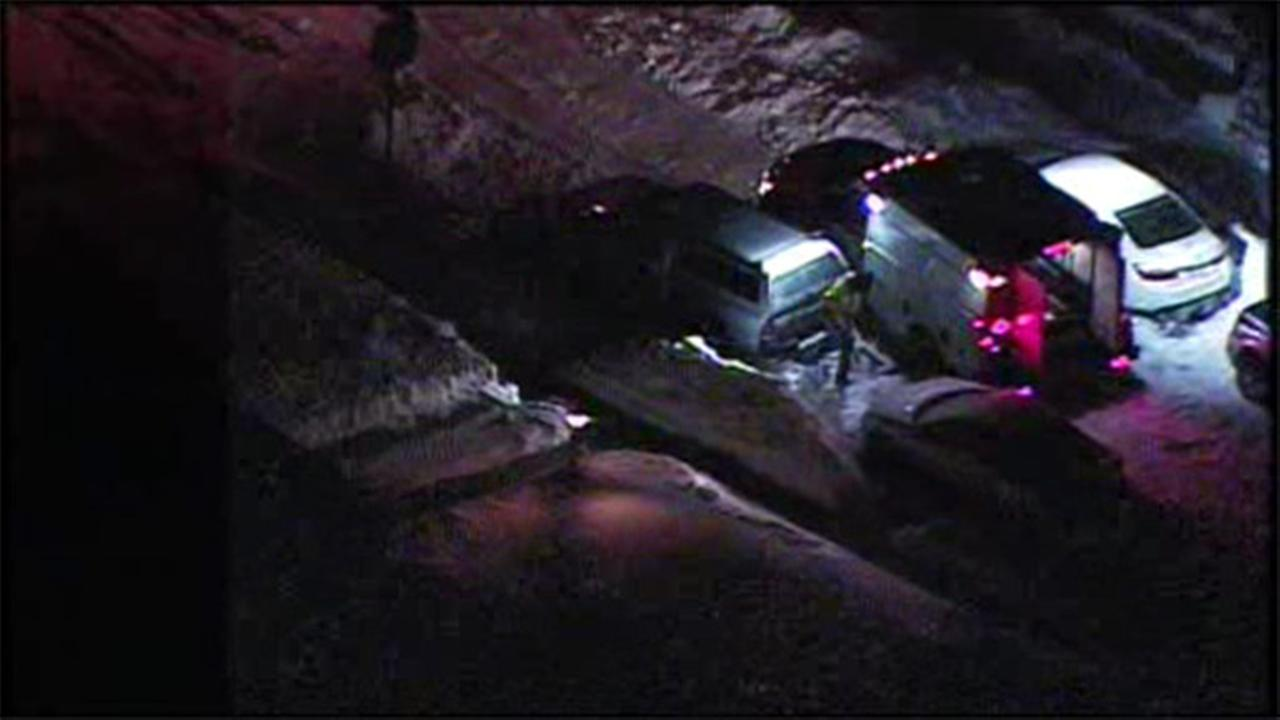 Water main break floods 2 cars in Rhawnhurst