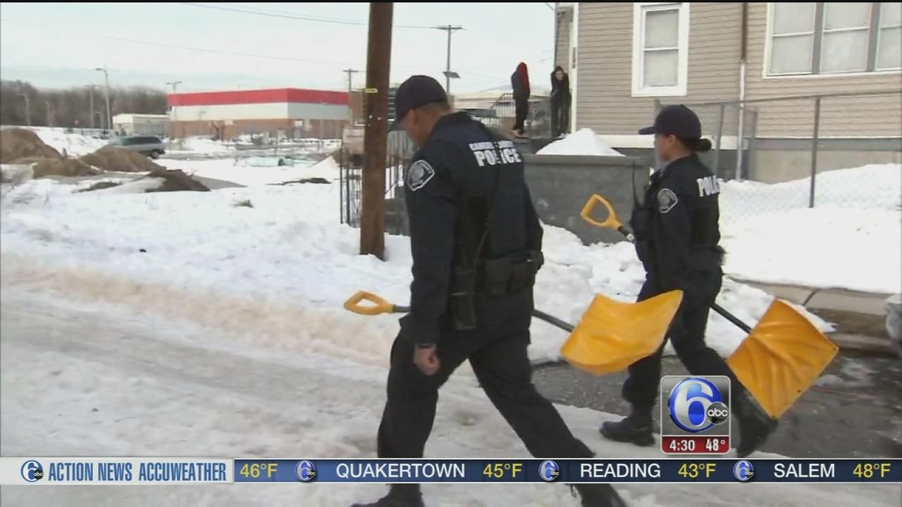 VIDEO: Camden Co. Police help residents still stuck in snow