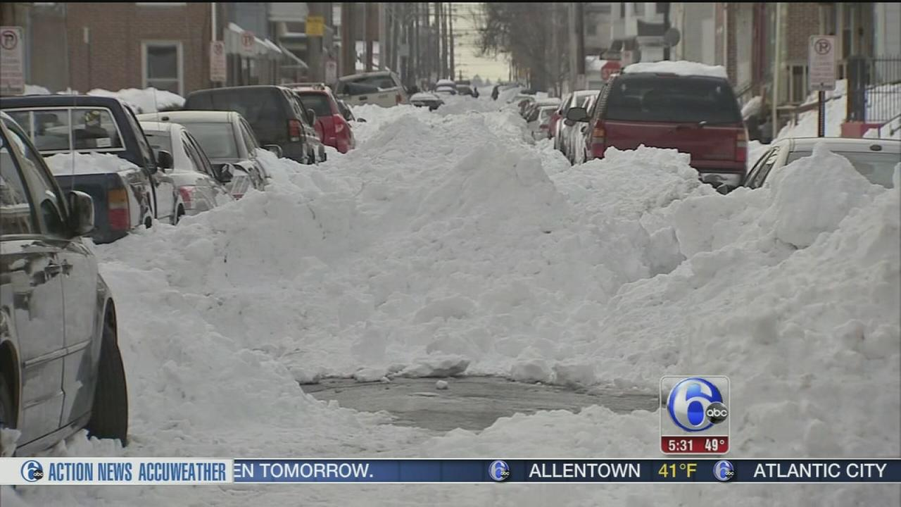 VIDEO: Allentown streets still buried 3 days after storm