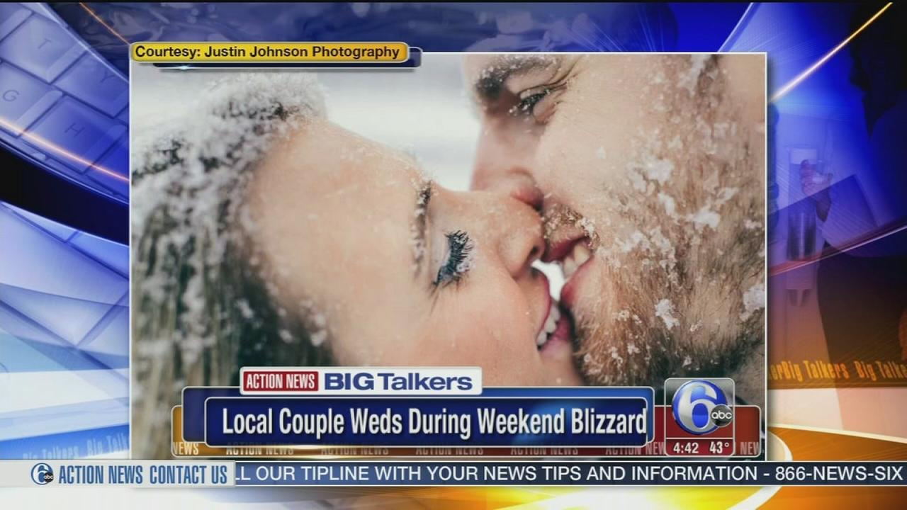 VIDEO: Local couple weds during weekend blizzard