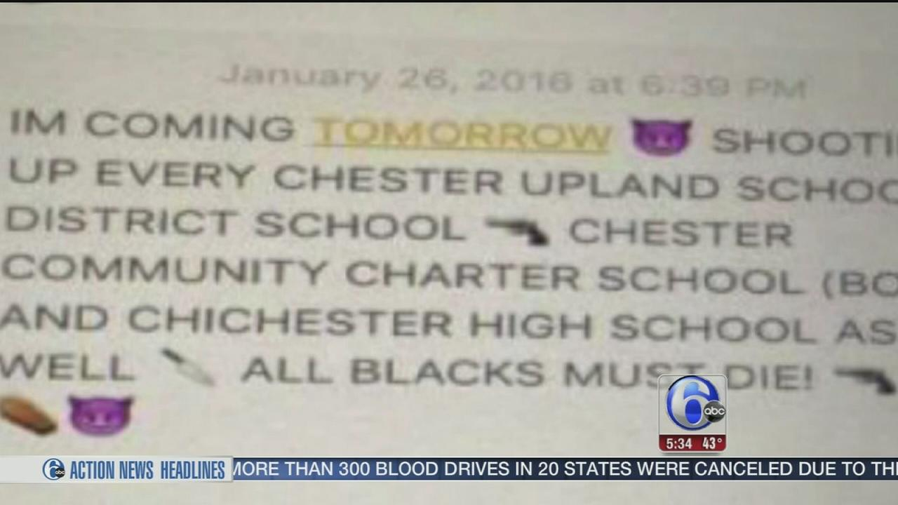 VIDEO: Chester student in custody after posting online threat, police say