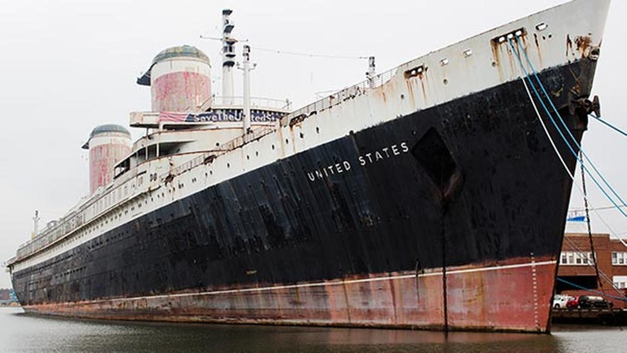 FILE - in this Nov. 22, 2013 file photo, the SS United States sits moored in Philadelphia.